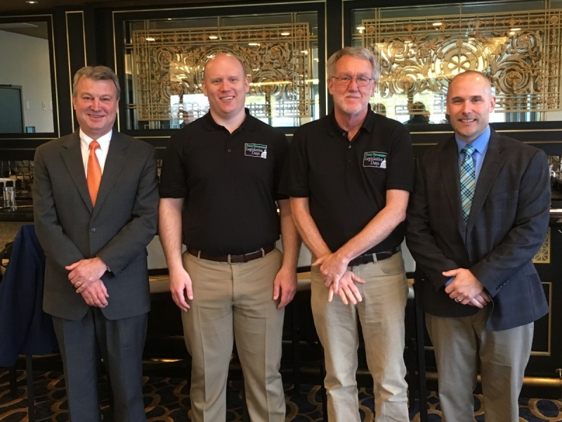 Rep. Kitchens, delegates and Steering Committee leaders Caleb Frostman and Rob Burke, and Michael Welsh, Director of Legislative Affairs for the Wisconsin Economic Development Association