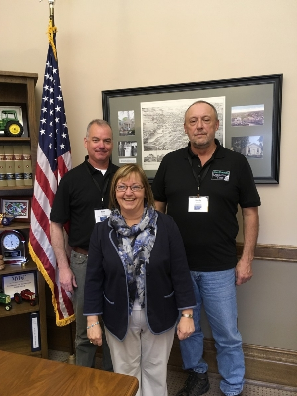 Delegates Tom Martin and Randy Halstead with Rep. Joan Ballweg.
