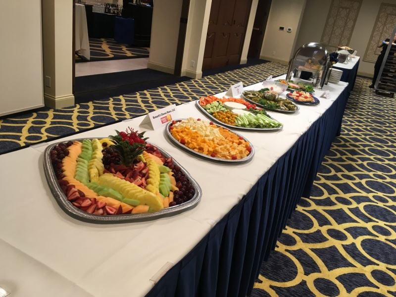 Door and Kewaunee County foods at our evening reception at the Premier Park Hotel.