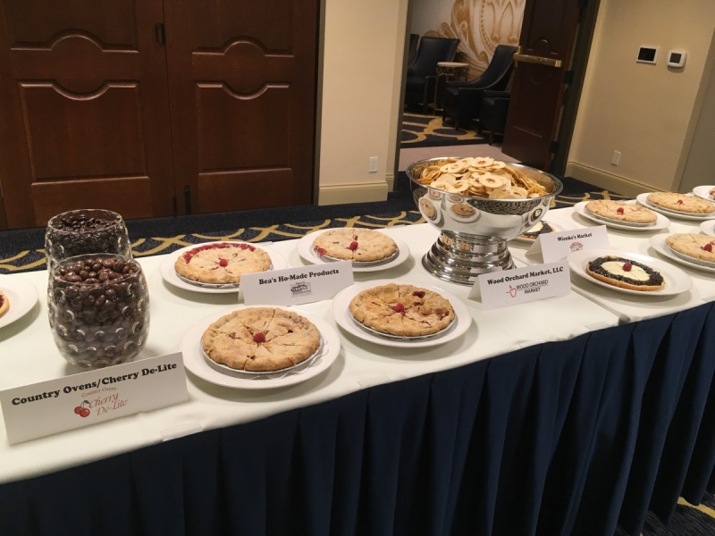 "Door and Kewaunee County foods at our evening reception at the Premier Park Hotel. — with Country Oven, Wood Orchard Market and Wienke's Market ""A Taste of Door County"""