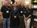 Delegates Randy Halstead, Tom Martin and Sam Perlman with Rep. Jim Edming.