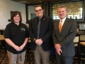 Delegate Michelle Gibson with Sturgeon Bay alum Spencer Gustafson and Rep. Kitchens.